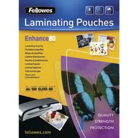 FELLOWES A4 ADHESIVE LAM POUCH
