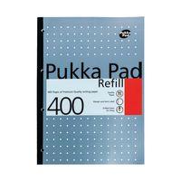 PUKKA PAD A4 REFILL 400SHEET BLUE