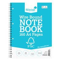 SILVINE EVERYDAY A4 TWINWIRE NOTEBK