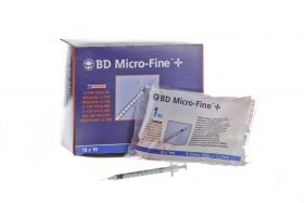 BD Micro-Fine + 324827 1ml Insulin Syringe with 29G x 13 mm Needle [Pack of 100]