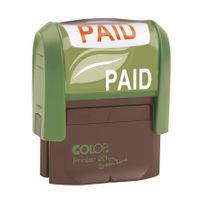COLOP WORD STAMP GREEN LINE PAID