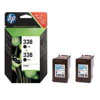 HP 338 BLACK INKJET CART TWIN PACK