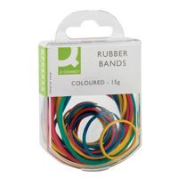 Q-CONNECT RUBBER BANDS 15GM ASSORTED
