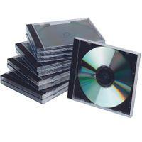 Q-CONNECT CD JEWEL CASE BLK/CLR PK10