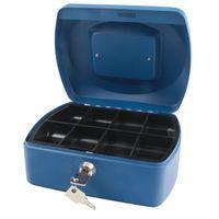 Q-CONNECT CASH BOX 8-INCH BLUE
