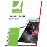 Q-CONNECT A4 HIGH GLOSS PHOTO PAPER