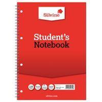 SILVINE SPIRAL BOOK A4 60LF FEINT 14