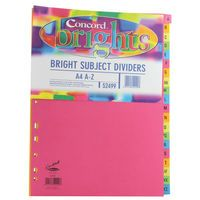CONCORD BRIGHT SUBJECT DIVIDER A4