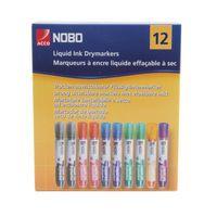 NOBO DRYMARKER BULLET ASTD PK12