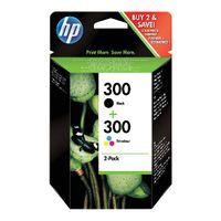 HP 300 COMBO PK INK CART BLK TRI