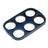 PLASTIC 6 CUP TRAY BLACK