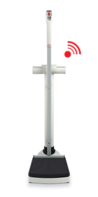 seca 704s Wireless column scale with integrated measuring rod (rear facing display)