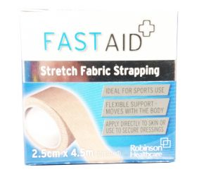 FastAid Zinc Stretch Fabric Strapping 2.5cm x 4.5m [Pack Of 1]