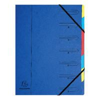 EUROPA 7 PART ORGANISER BLUE 54072E