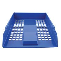 QCONNECT LETTER TRAY BLUE STACK