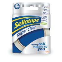 SELLOTAPE SUPER CLEAR 24MMX50M