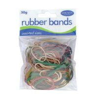 COUNTY RUBBER BANDS NAT 50GMS PK12
