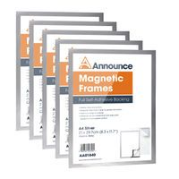 ANNOUNCE MAGNETIC FRAMES A4 SILV P5