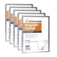 ANNOUNCE MAGNETIC FRAMES A3 SILV P5