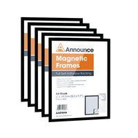 ANNOUNCE MAGNETIC FRAMES A4 BLK PK5