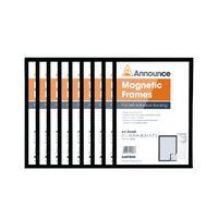 ANNOUNCE MAGNETIC FRAMES A4 BLK P10