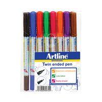 ARTLINE 2IN1 WHTBRD MRKR FINE/SFINE