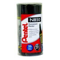 PENTEL N850 PERM BULLET MRKR BLACK
