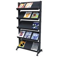 WIDE MOBILE LITERATURE DISPLAY STAND