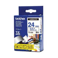 BROTHER TZ253 24MM BLUE/WHITE TAPE