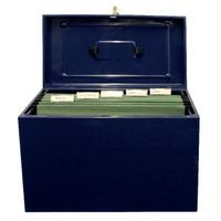 CATHEDRAL FSCAP METAL FILE BOX BLUE