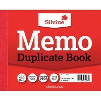 SILVINE DUP BOOK RED 106X125MM PK 12