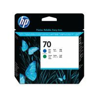 HP 70 PRINTHEAD TWIN BLUE GREEN