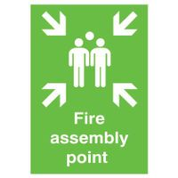 SIGNSLAB A2 FIRE ASSEMBLY POINT PVC