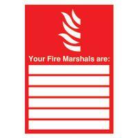 SIGNSLAB A4 UR FIRE MARSHALS PVC