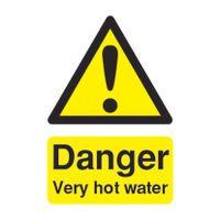 SIGNSLAB DANGER VERY HOT WATER PVC