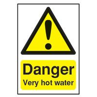 SIGNSLAB DANGER VERY HOT WATER S/A