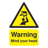 SIGNSLAB A5 MIND YOUR HEAD PVC