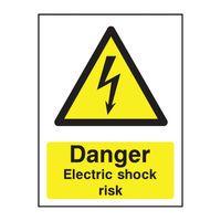 SIGNSLAB A5  ELECT SHOCK RISK PVC