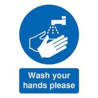 SIGNSLAB A5 WASH YR HANDS PLEASE S/A