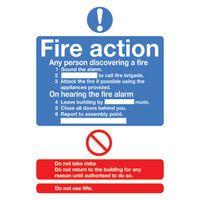 SIGNSLAB A5 FIRE ACTION STANDARD S/A