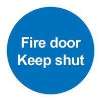 SIGNSLAB FIRE DOOR KEEP SHUT PVC