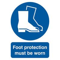 SIGNSLAB A4 FOOT PROTM/B/WORN PVC