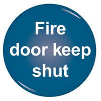 SIGNSLAB FIRE DOOR KEEP SHUT SYMBOL