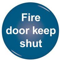 SIGNSLAB FIRE DOOR KEEP SHUT SYMBOL
