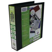 ELBA PRES BINDER A4 4D 40MM BK PK6