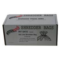SAFEWRAP SHREDDER BAGS 150 LTRE PK50