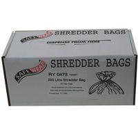 SAFEWRAP SHREDDER BAGS 200 LTRE PK50