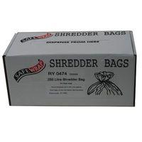 SAFEWRAP SHREDDER BAGS 250 LTRE PK50