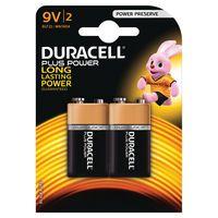 DURACELL 9V PLUS 2PACK COPPER/BLK