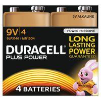 DURACELL 9V 4 PACK COPPER/BLK